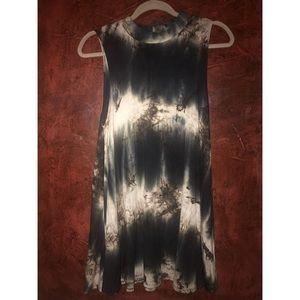 Audrey 3+1 Tie Dye Piko Style Dress